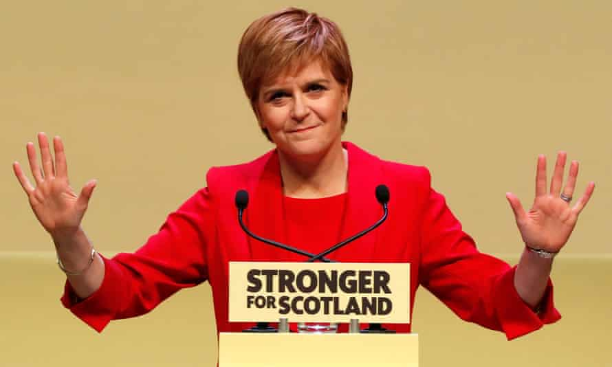 Nicola Sturgeon launches the SNP manifesto in Perth, a key Tory target.