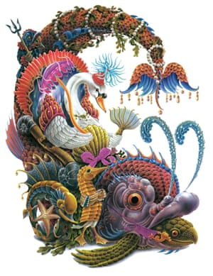 Illustration from The Peacock Party, a sequel to The Butterfly Ball, 1979.