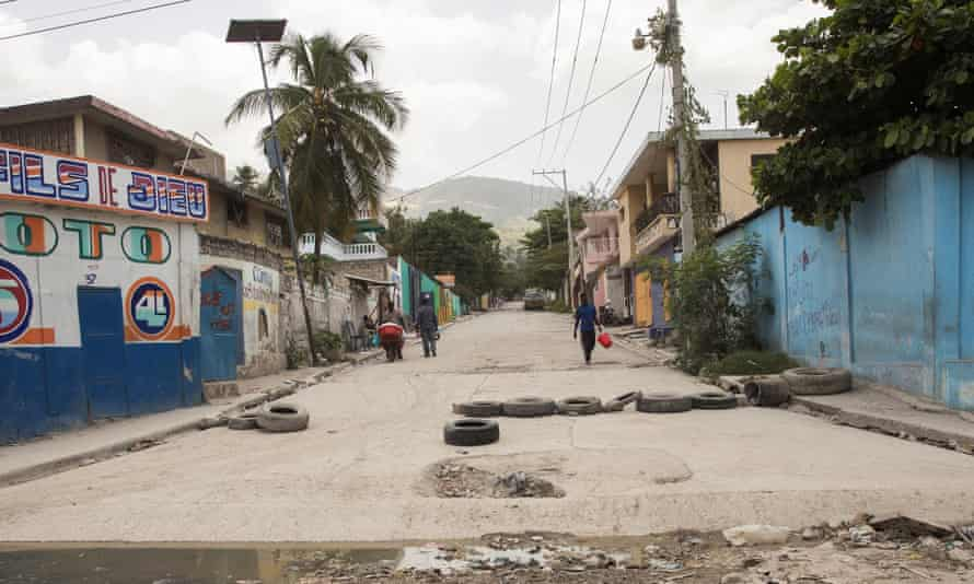 A street in Martissant, a neighborhood controlled by armed gangs, in Port-au-Prince.