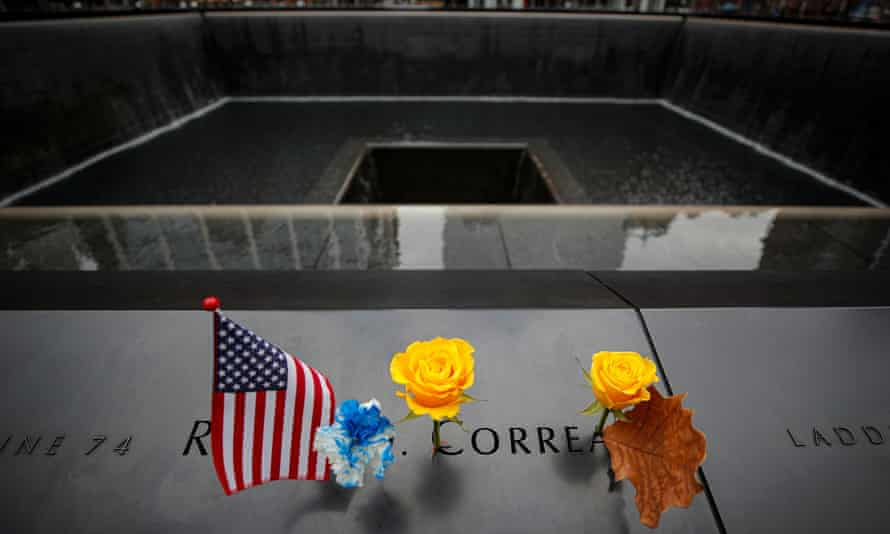 The 9/11 memorial in New York. The families want information on who financed and supported the attacks.