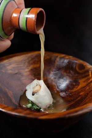 Fish and mushroom soup
