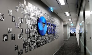 The Australian Associated Press (AAP) logo at AAP head office in Sydney
