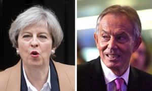 Theresa May and Tony Blair