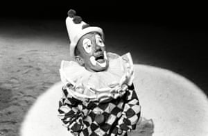 Baker dressed as a clown in Man of the World