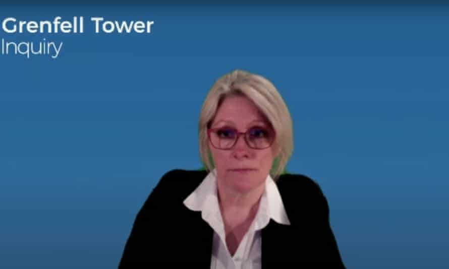 Debbie French giving evidence to the Grenfell Tower inquiry