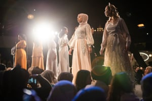 Models wear Ozmah's new formal collection