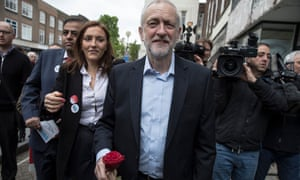 Jeremy Corbyn on the campaign trail in Bedfordshire on Wednesday