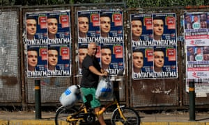 Posters of Alexis Tsipras in Athens