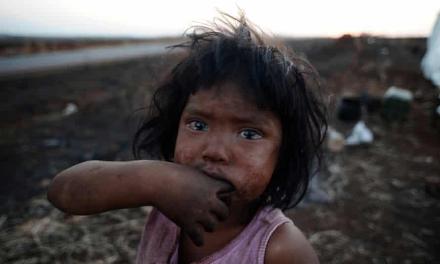 A Guarani-Kaiowá girl, Sandriely