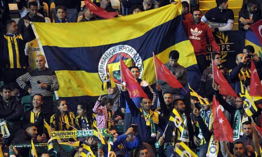Fenerbahce fans await kick off  for their Europa League game against Celtic this month.