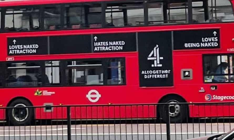 Channel 4's 'creepy' advertising campaign on the sides of some London buses will be removed, Transport for London (TfL) has said.