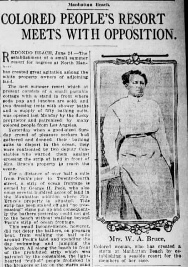 A Los Angeles Times article from 27 June 1912 about Bruce's Beach.