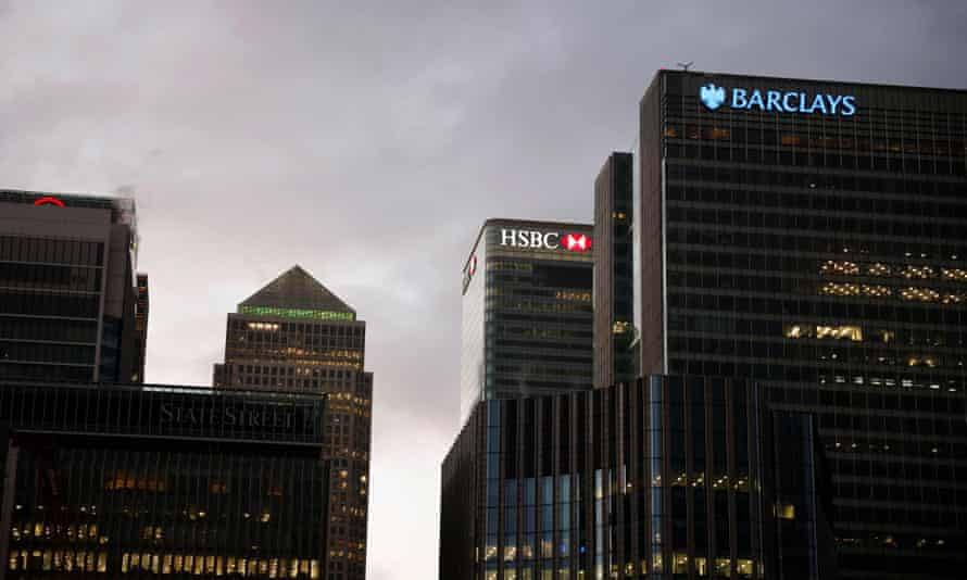 HSBC and Barclays offices at Canary Wharf
