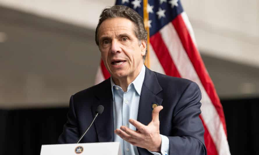 Andrew Cuomo speaks at a press conference in New York City Monday.