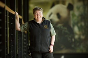 Alison Maclean, chief panda keeper at Edinburgh zoo.