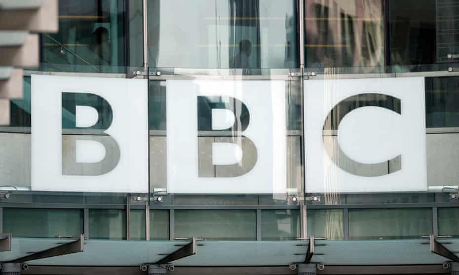 A BBC sign.