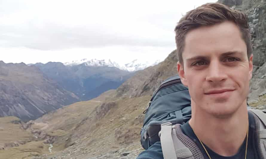 James Johnston on his hike in New Zealand.