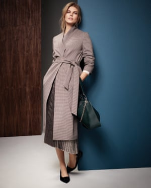 A £99 taupe coat, part of M&S's Autograph collection.