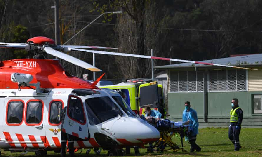 Lilydale air ambulance helicopter
