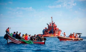 A rescue mission in the Strait of Gibraltar