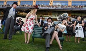 Racegoers enjoying the day at Royal Ascot.