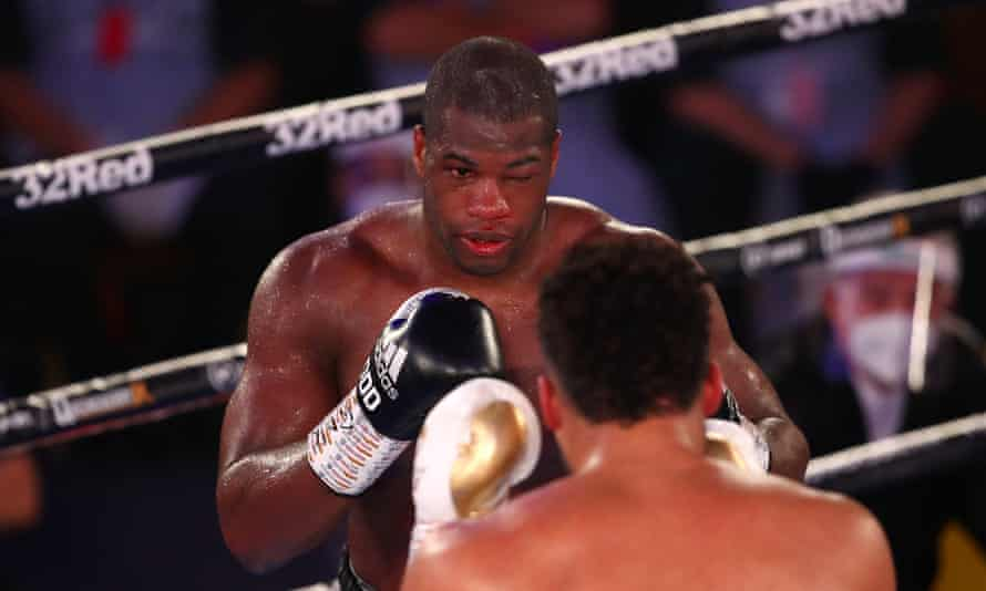 Daniel Dubois suffered a broken orbital bone around his eye in his fight against Joe Joyce