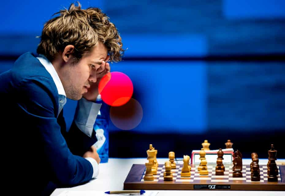 Magnus Carlsen, at January's tournament in Wijk aan Zee, is a strong favourite to retain his world title.