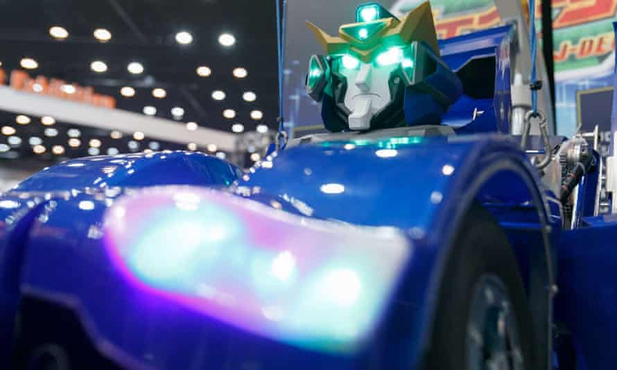 Artificial intelligence and 'internet of things' companies show off the latest technology at SoftBank Robot World in Tokyo.
