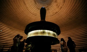 More to learn … tourists look at portions of the Dead Sea scrolls on display at the Shrine of the Book in Jerusalem.