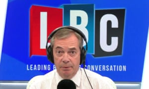 Nigel Farage speaks to 'Donald from Washington' on his radio show.