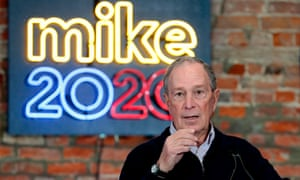 US-ELECTIONS-BLOOMBERG2020 Democratic presidential hopeful and former New York Mayor Michael Bloomberg speaks during an event to open a campaign office at Eastern Market in Detroit, Michigan, on December 21, 2019. (Photo by JEFF KOWALSKY / AFP) (Photo by JEFF KOWALSKY/AFP via Getty Images)