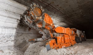 A continuous miner at work at Sirius Minerals' Woodsmith Mine in North Yorkshire.