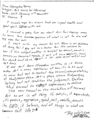 A letter from an inmate on death-row in the USA.