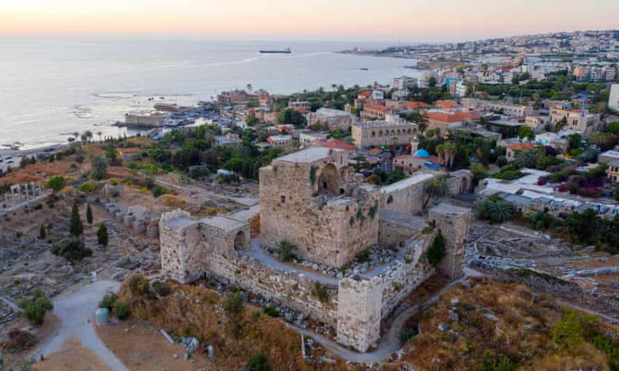 The Castle of Byblos in the ancient city of Byblos (Jbeil), north of Beirut. The castle was built by the Crusaders in the 12th century.