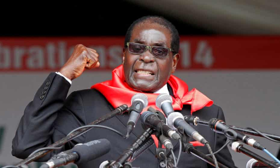 Robert Mugabe. 'He will be remembered for the land invasions, the rigged elections, the beatings in the townships and the ineptitude of the courts.'