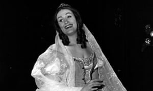 Dame Joan Sutherland during rehearsals for a production of Bellini's I Puritani, conducted by her husband Richard Bonynge, March 1964.