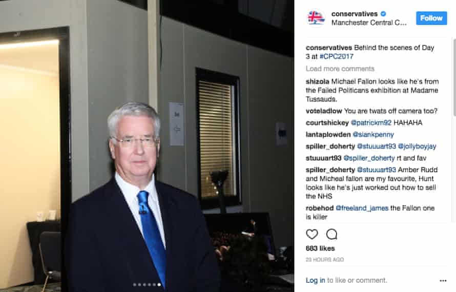 Conservatives Instagram post from their Manchester conference.