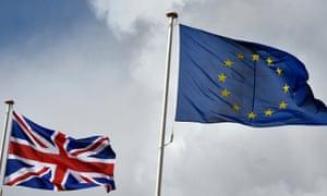 Union and EU flags