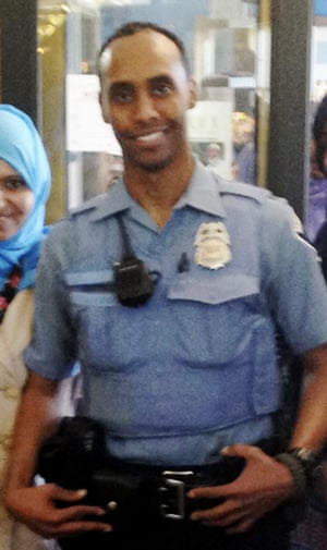 Mohamed Noor at a community event welcoming him to the Minneapolis police force. He fatally shot Justine Damond on 15 July.
