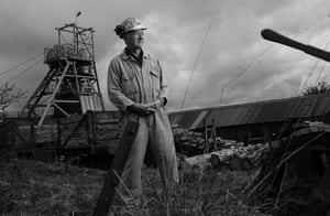 John Perrot, 69, poses at Big Pit, Blenavon.  Mr Perrot has been going underground for 49 years, first as a miner and then as a guide, and is believed to be the longest serving miner in Wales.