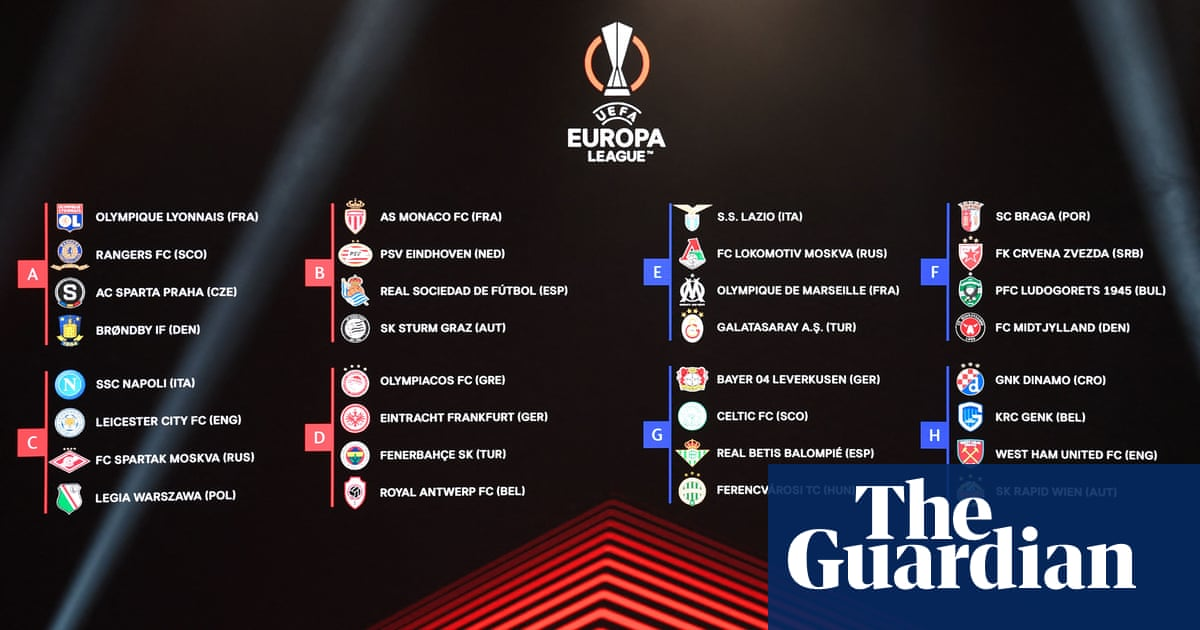 Europa League: Leicester draw Napoli, West Ham land in favourable group