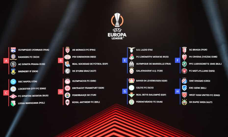 The Europa League draw in full.