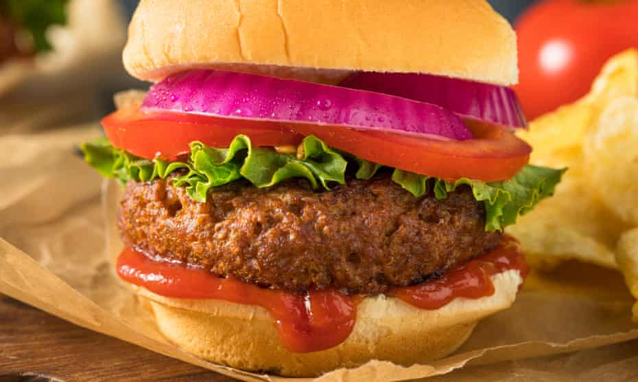 Sophisticated faux meat burger