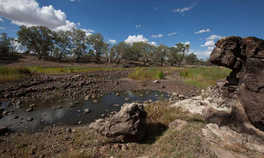 The Brewarrina fish traps, one of Australia's oldest heritage sites, located on the Barwon River near the NSW town of Brewarrina.