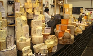 Cheese at Neals Yard Dairy in Borough Market, London.