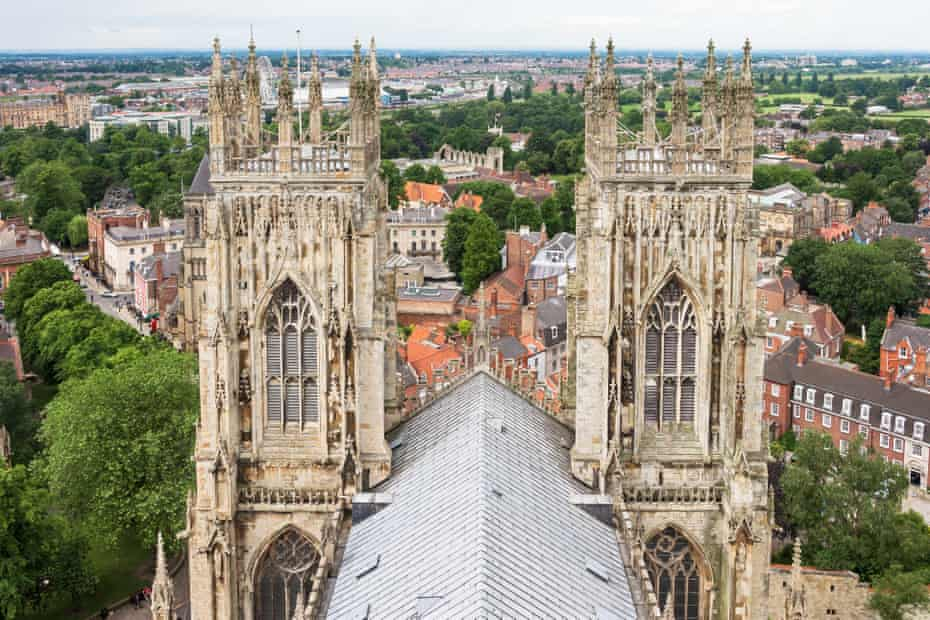 Panorama of York from the roof of York Minster.