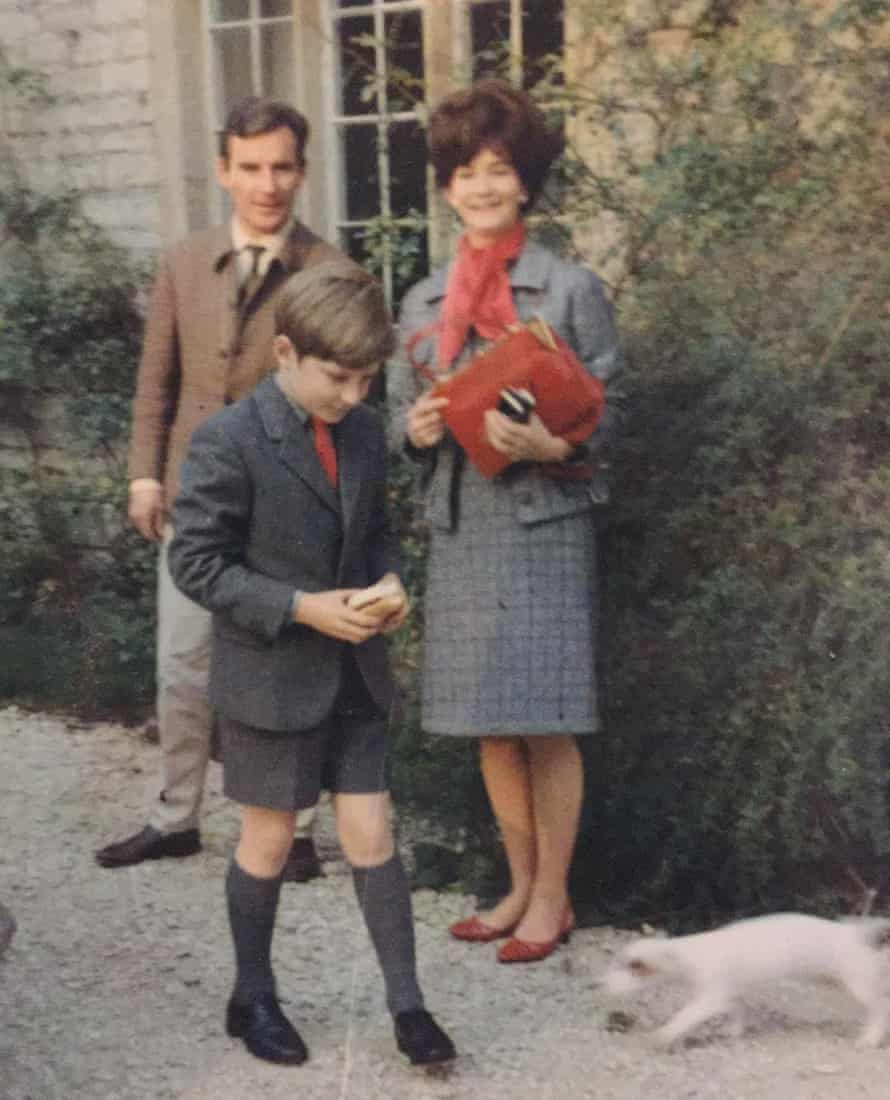 Old photo of Susie, Guy and James Kennaway when Guy was a boy