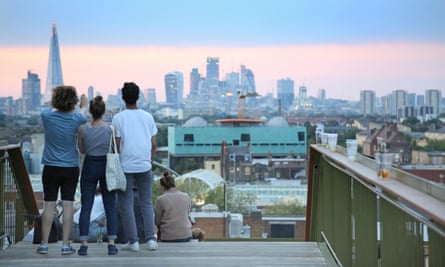 The view from Frank's Cafe, Peckham, London.
