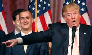 Corey Lewandowski with his former boss Donald Trump. Trump allies have grown increasingly concerned about the presumptive Republican nominee's skeletal team.