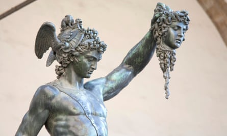 Perseus and Medusa bronze statue